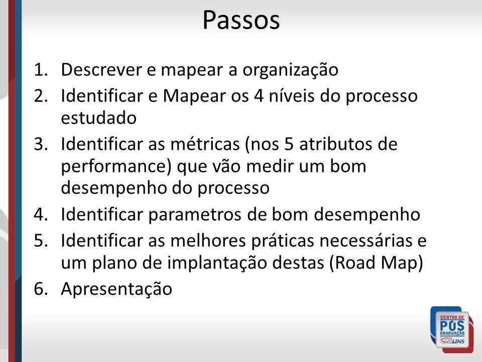 Passos Descrever e mapear a organização