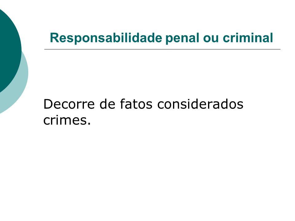 Responsabilidade penal ou criminal