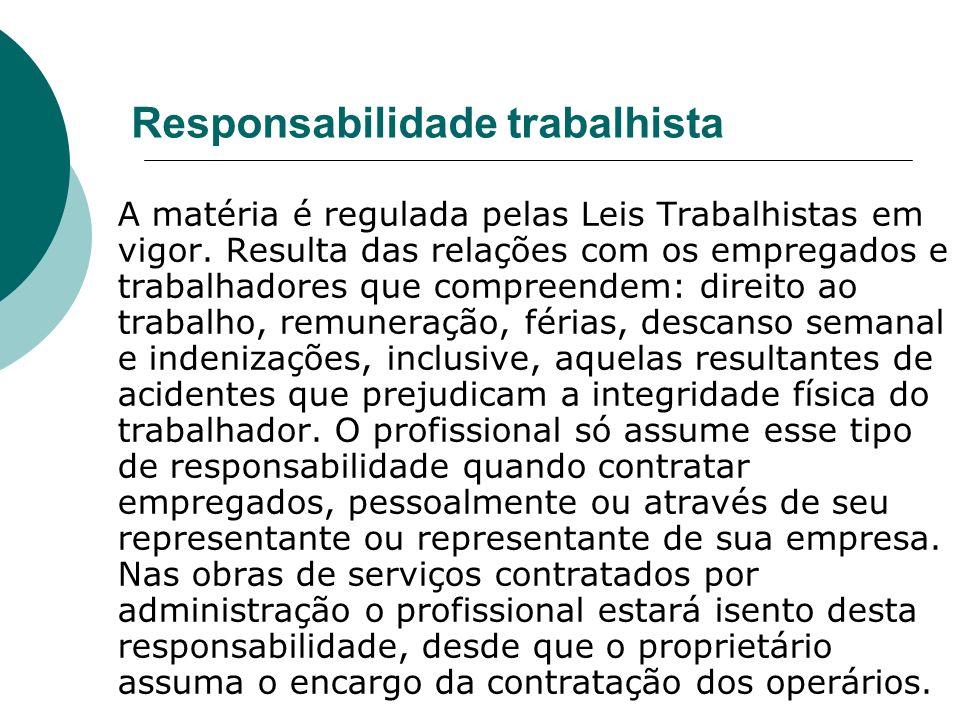 Responsabilidade trabalhista