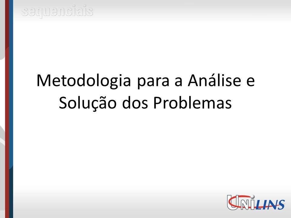 Metodologia para a Análise e Solução dos Problemas