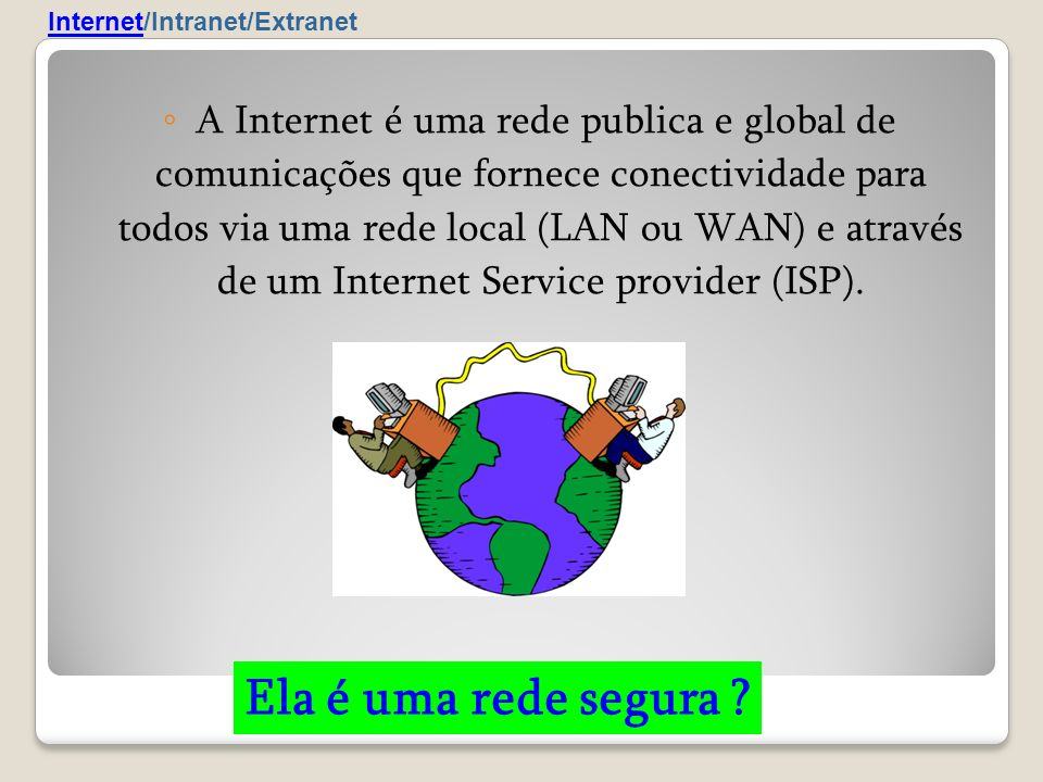 Internet/Intranet/Extranet
