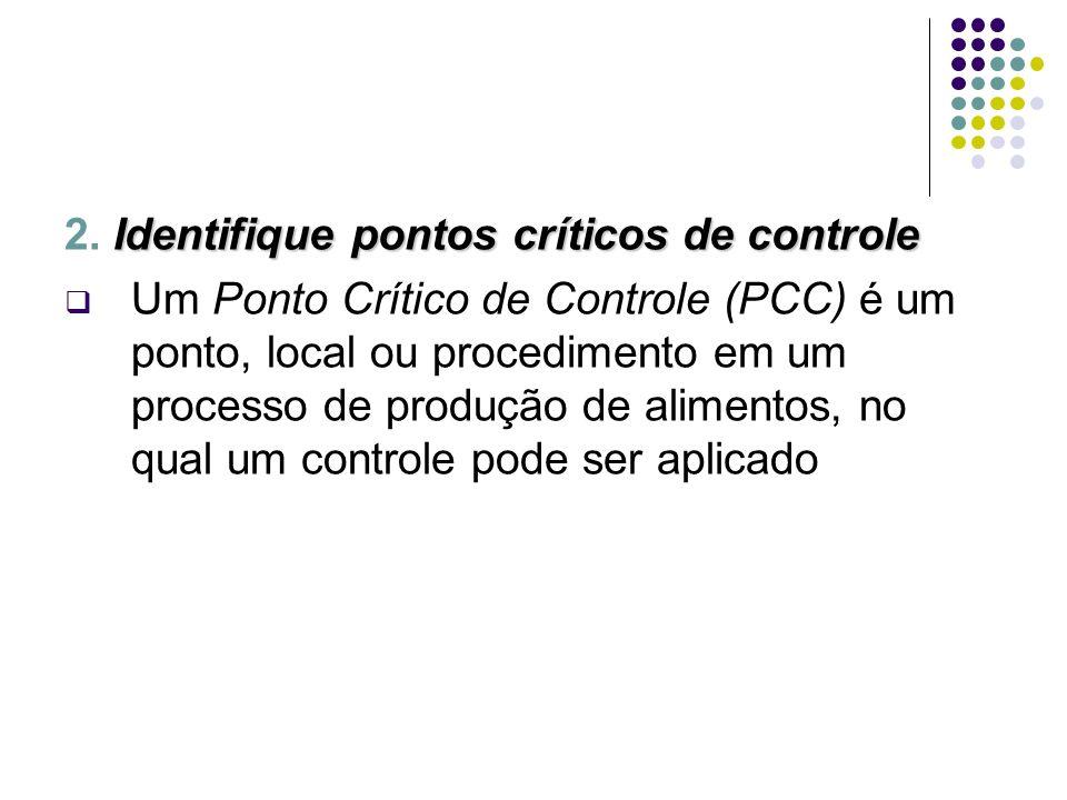 2. Identifique pontos críticos de controle
