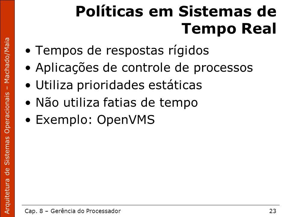 Políticas em Sistemas de Tempo Real