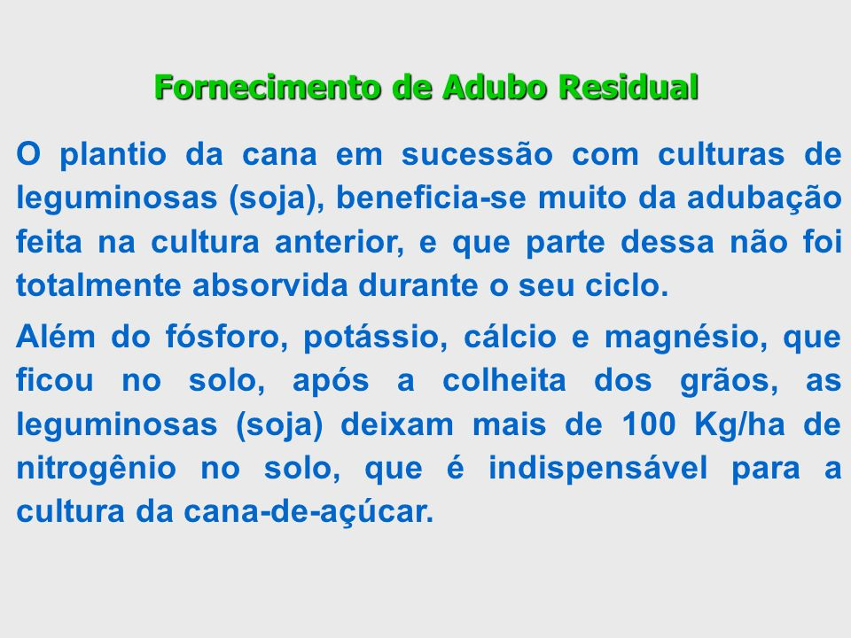 Fornecimento de Adubo Residual