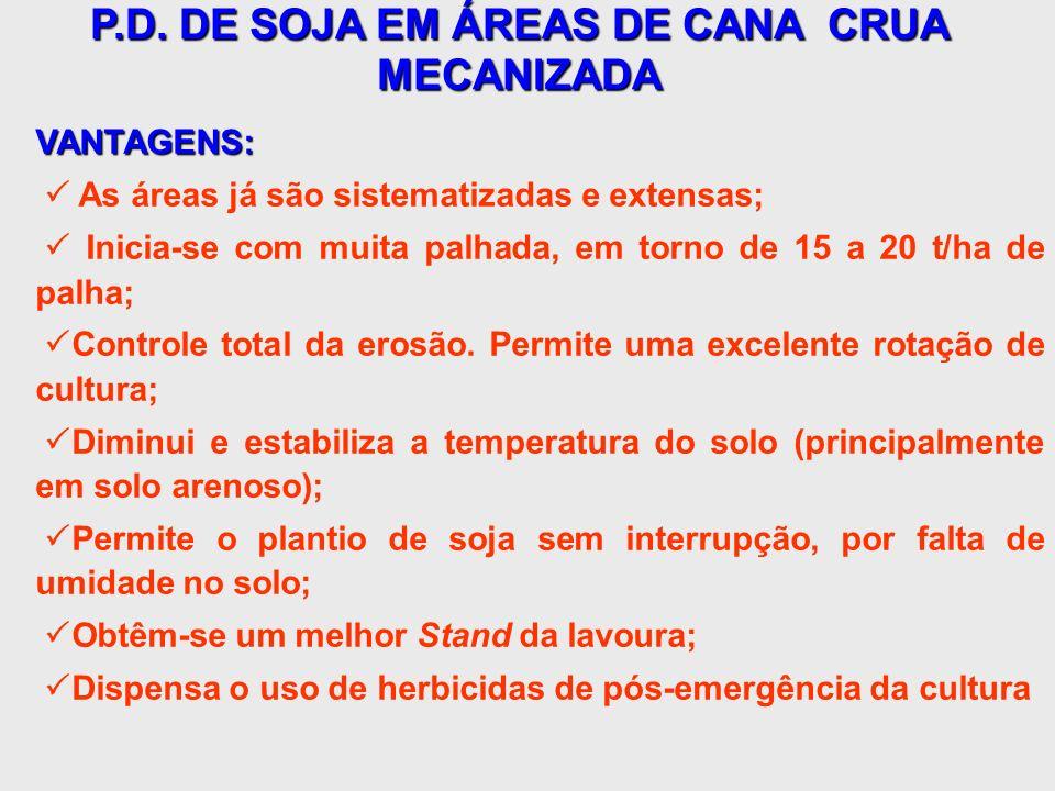 P.D. DE SOJA EM ÁREAS DE CANA CRUA MECANIZADA