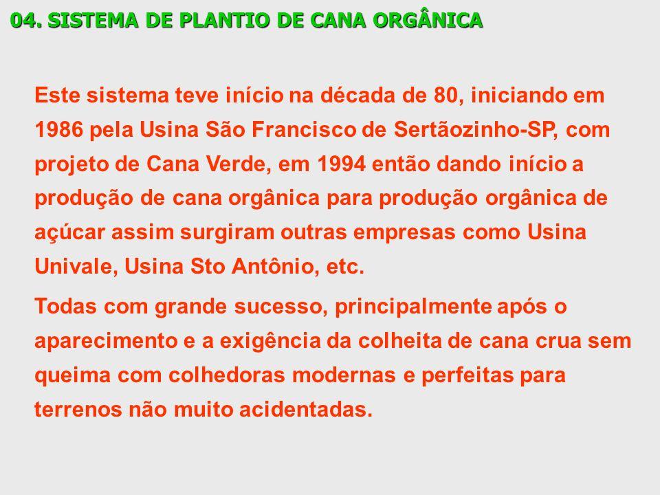 04. SISTEMA DE PLANTIO DE CANA ORGÂNICA