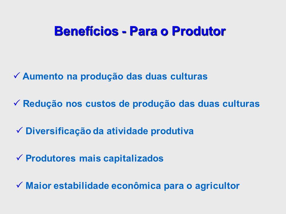 Benefícios - Para o Produtor