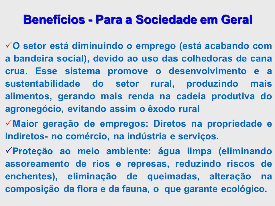 Benefícios - Para a Sociedade em Geral