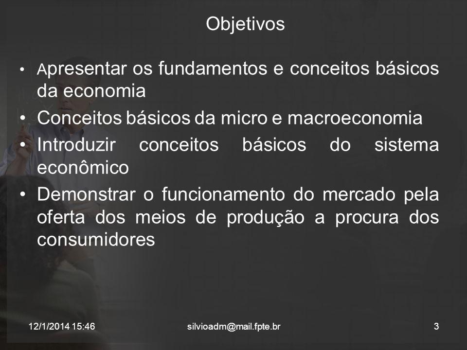Conceitos básicos da micro e macroeconomia