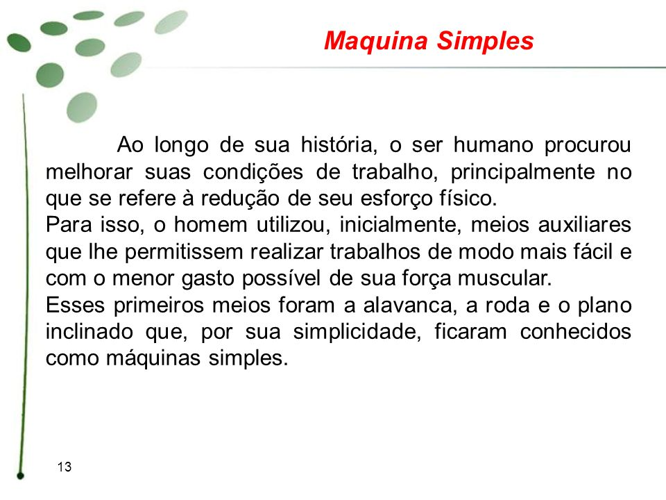 Maquina Simples