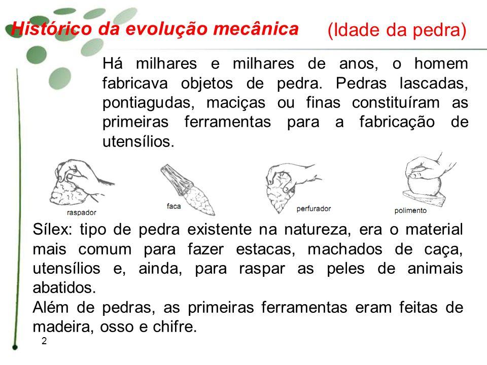 Histórico da evolução mecânica (Idade da pedra)
