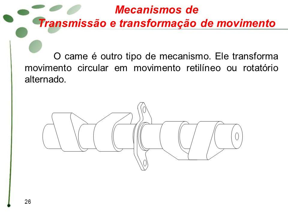 Transmissão e transformação de movimento