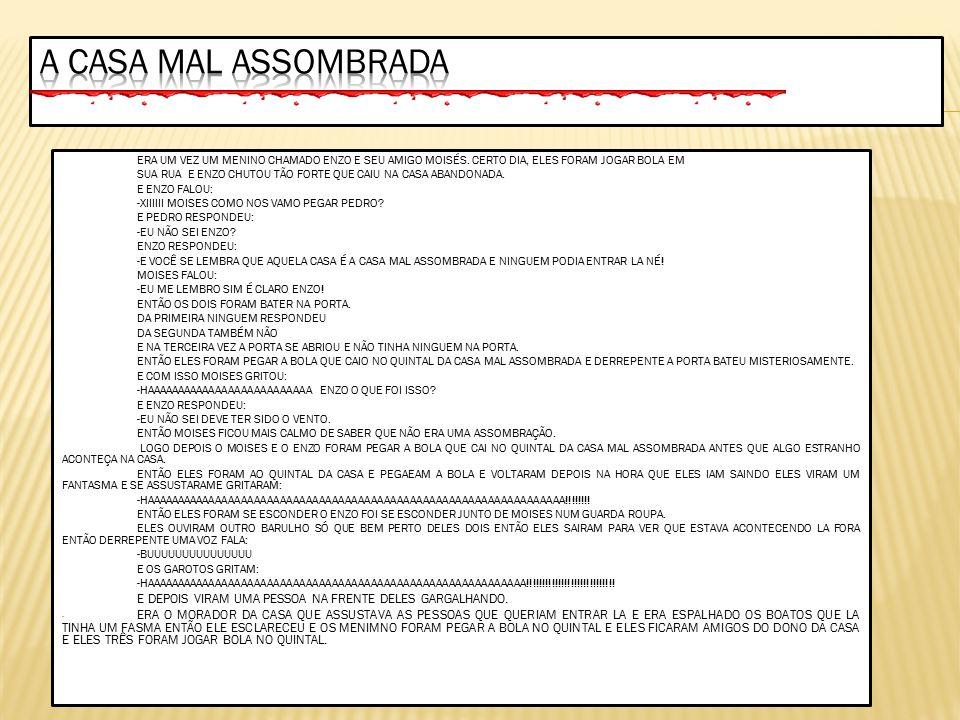 A CASA MAL ASSOMBRADA CONTO DE MISTERIO