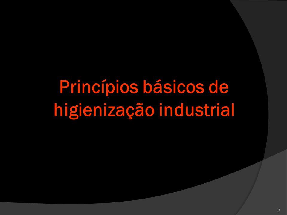 Princípios básicos de higienização industrial
