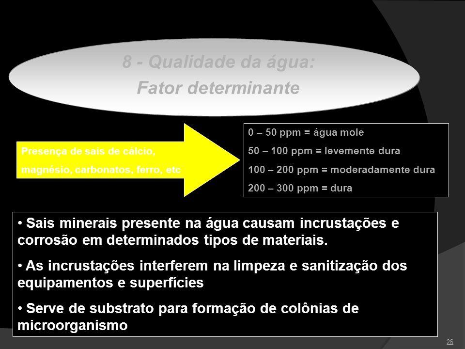 8 - Qualidade da água: Fator determinante