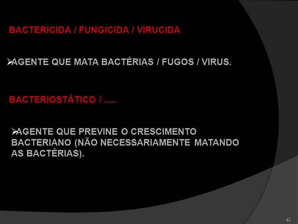 BACTERICIDA / FUNGICIDA / VIRUCIDA