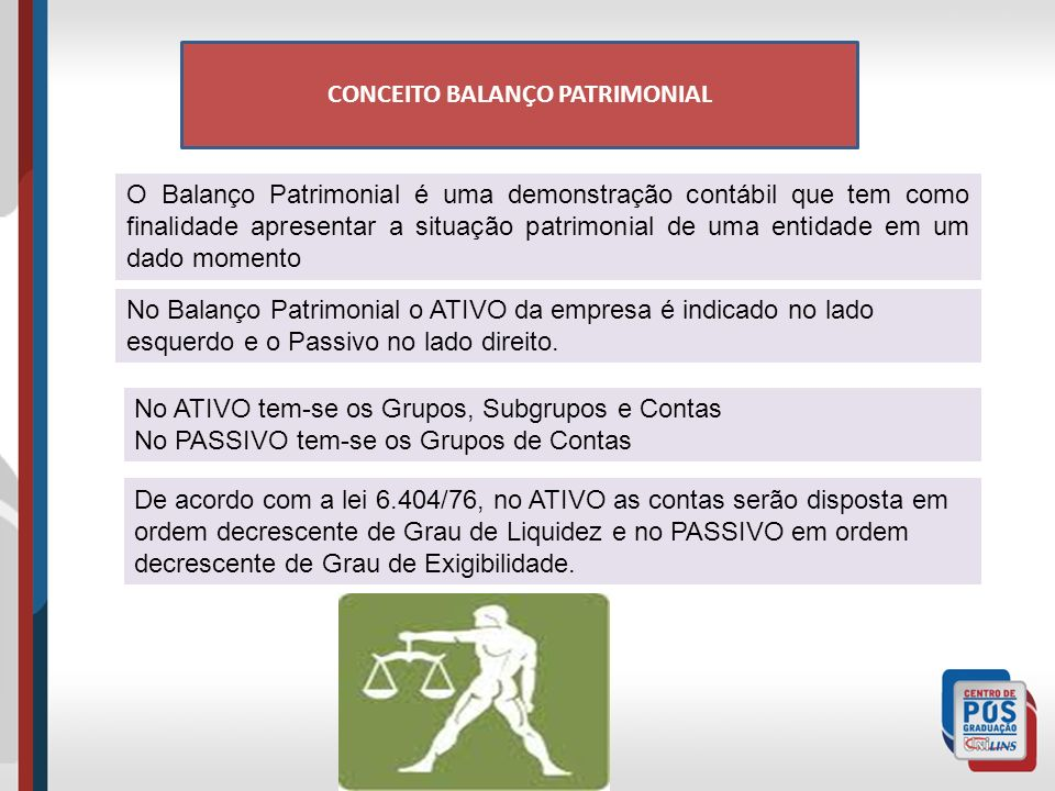 CONCEITO BALANÇO PATRIMONIAL