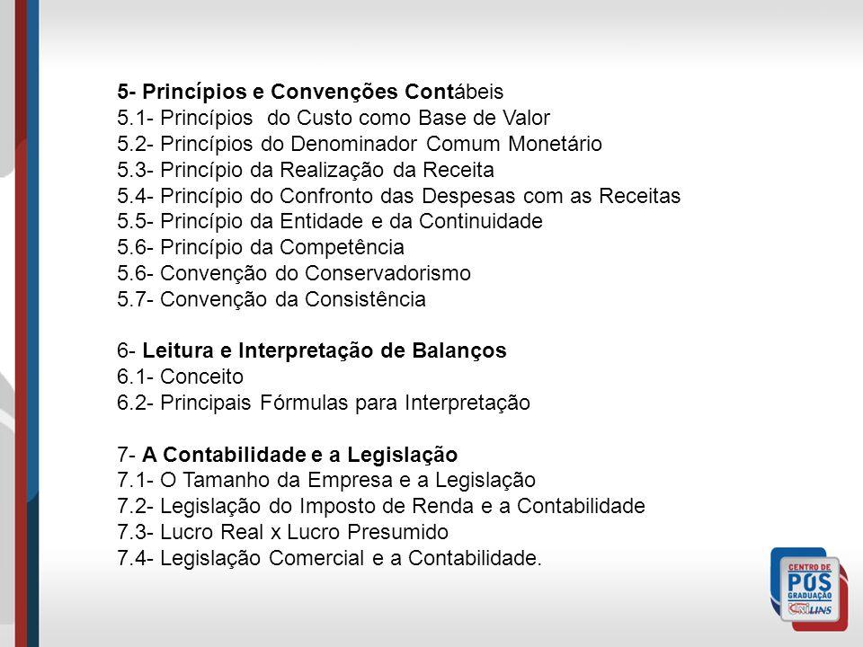 5- Princípios e Convenções Contábeis