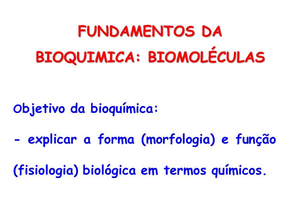FUNDAMENTOS DA BIOQUIMICA: BIOMOLÉCULAS