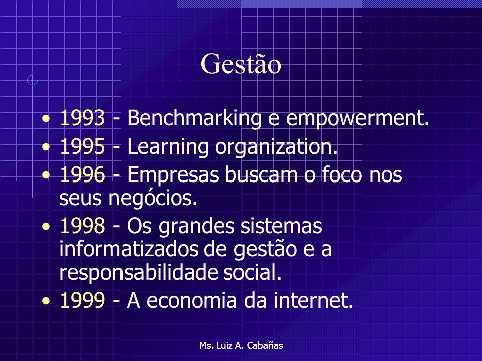 Gestão 1993 - Benchmarking e empowerment.