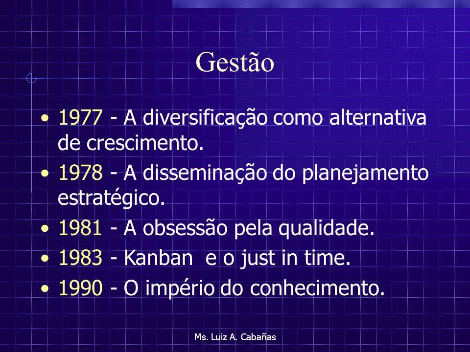 Gestão 1977 - A diversificação como alternativa de crescimento.