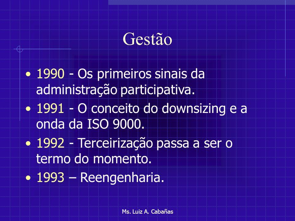Gestão 1990 - Os primeiros sinais da administração participativa.