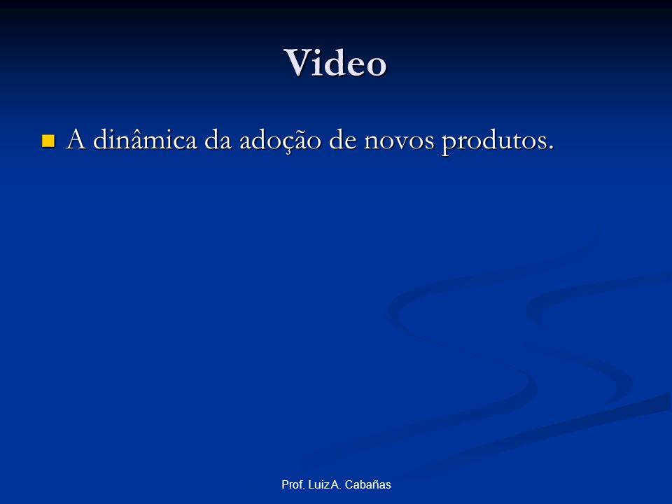 Video A dinâmica da adoção de novos produtos. Prof. Luiz A. Cabañas