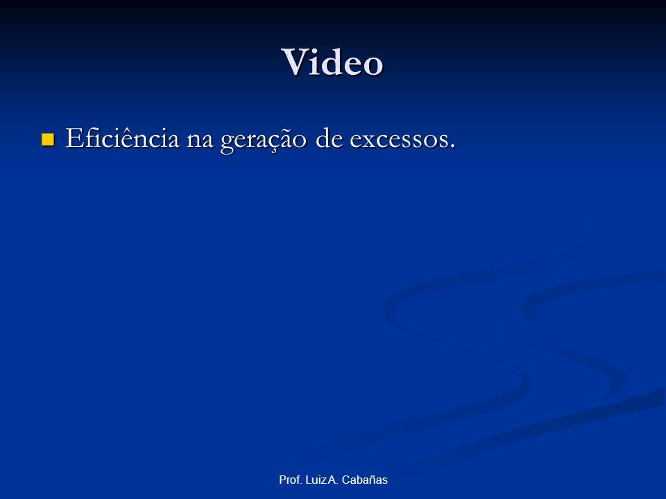 Video Eficiência na geração de excessos. Prof. Luiz A. Cabañas