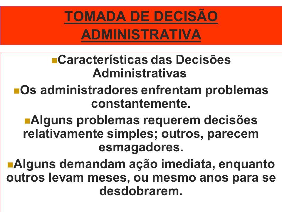 TOMADA DE DECISÃO ADMINISTRATIVA