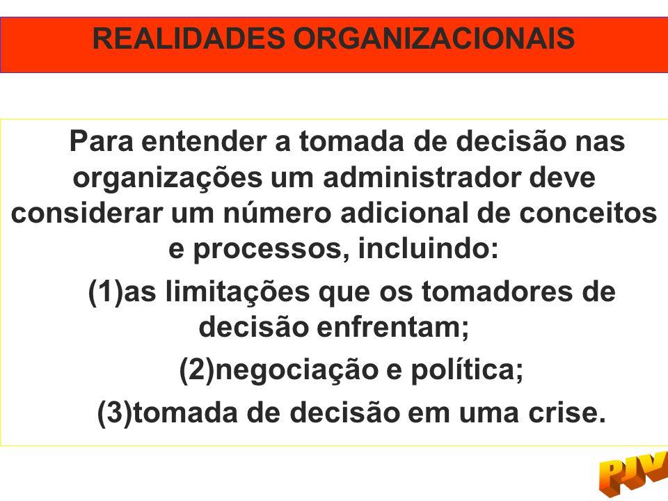 REALIDADES ORGANIZACIONAIS