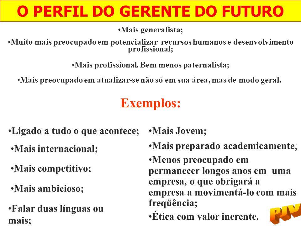 O PERFIL DO GERENTE DO FUTURO