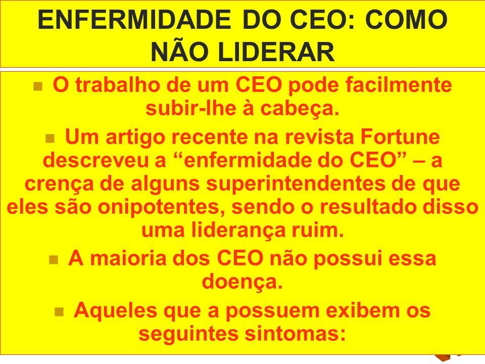 ENFERMIDADE DO CEO: COMO NÃO LIDERAR