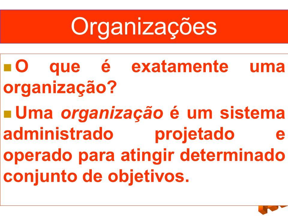 Organizações O que é exatamente uma organização