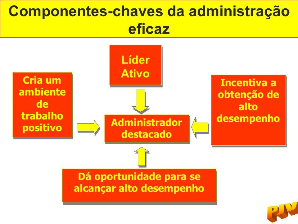 Componentes-chaves da administração eficaz