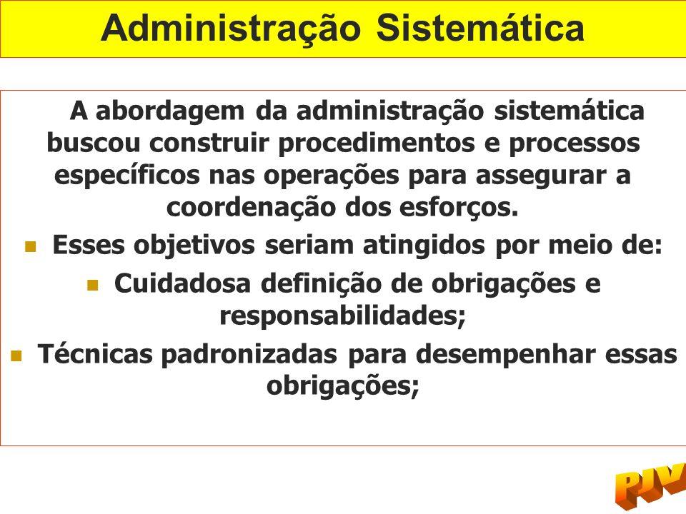 Administração Sistemática