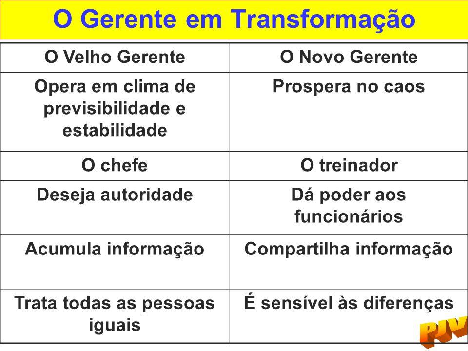 O Gerente em Transformação
