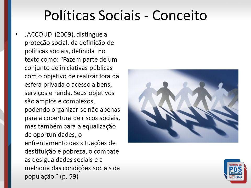 Políticas Sociais - Conceito