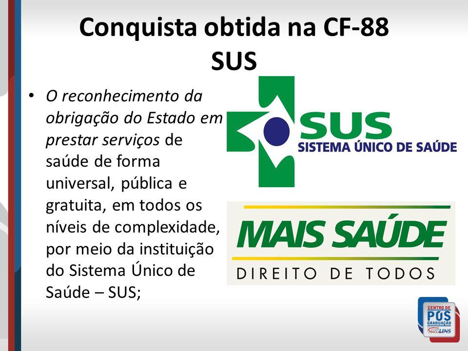 Conquista obtida na CF-88 SUS