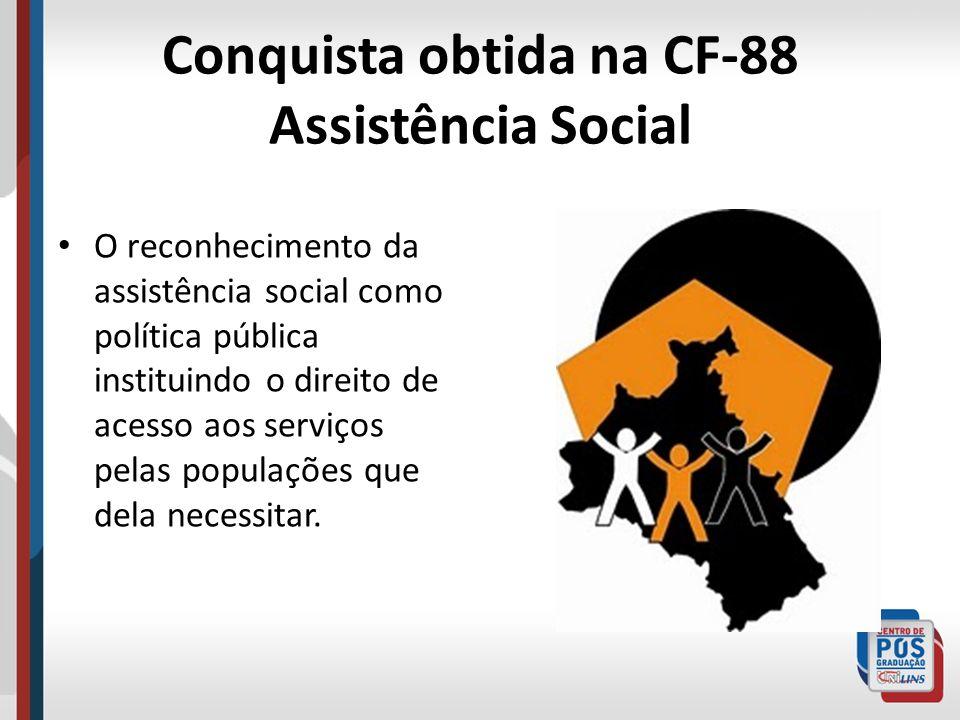 Conquista obtida na CF-88 Assistência Social