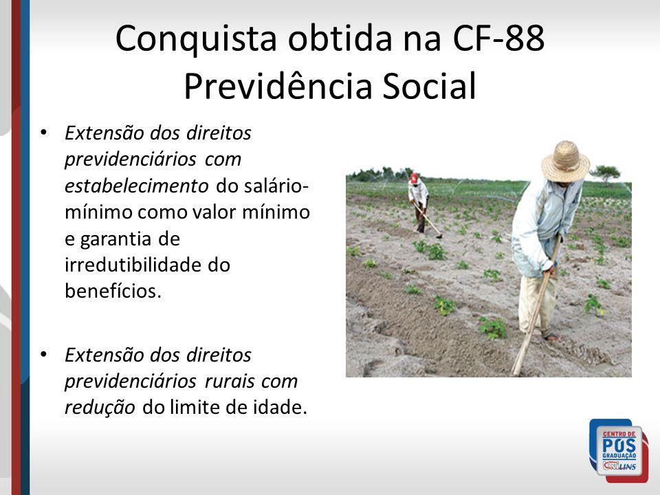 Conquista obtida na CF-88 Previdência Social