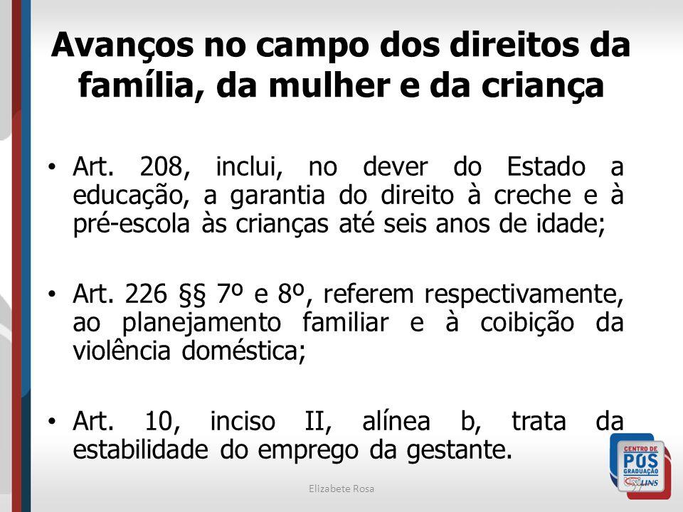 Avanços no campo dos direitos da família, da mulher e da criança