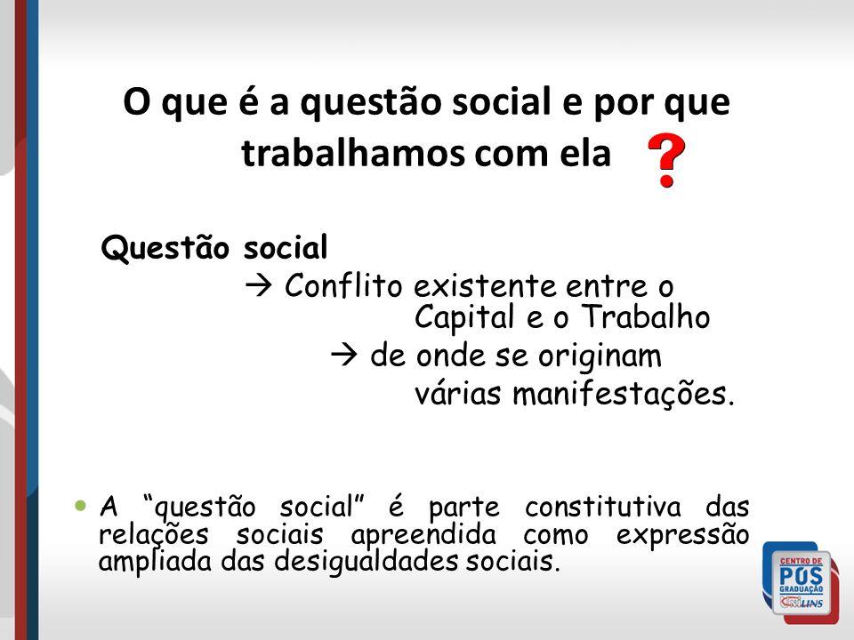 O que é a questão social e por que trabalhamos com ela