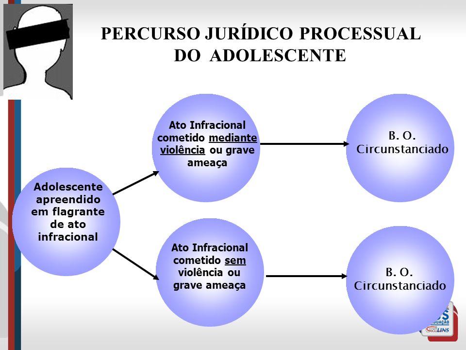 PERCURSO JURÍDICO PROCESSUAL apreendido em flagrante