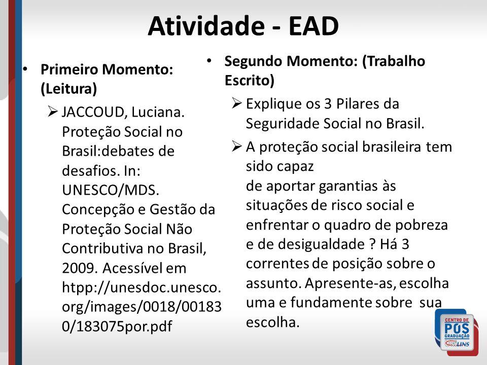Atividade - EAD Segundo Momento: (Trabalho Escrito)