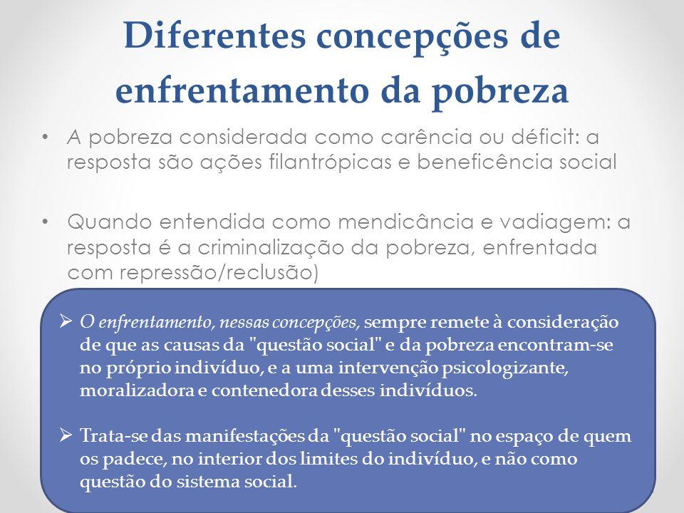 Diferentes concepções de enfrentamento da pobreza