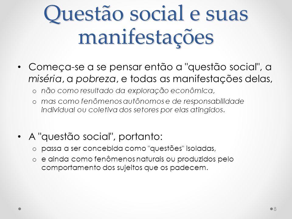 Questão social e suas manifestações