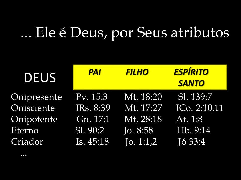 ... Ele é Deus, por Seus atributos