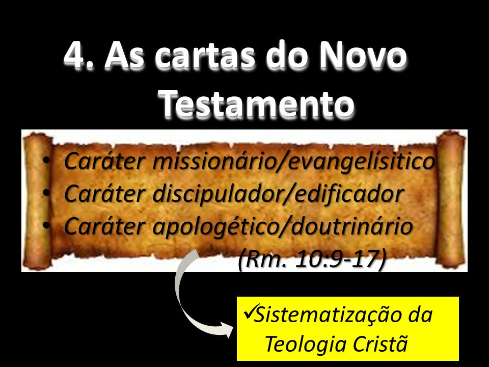 4. As cartas do Novo Testamento
