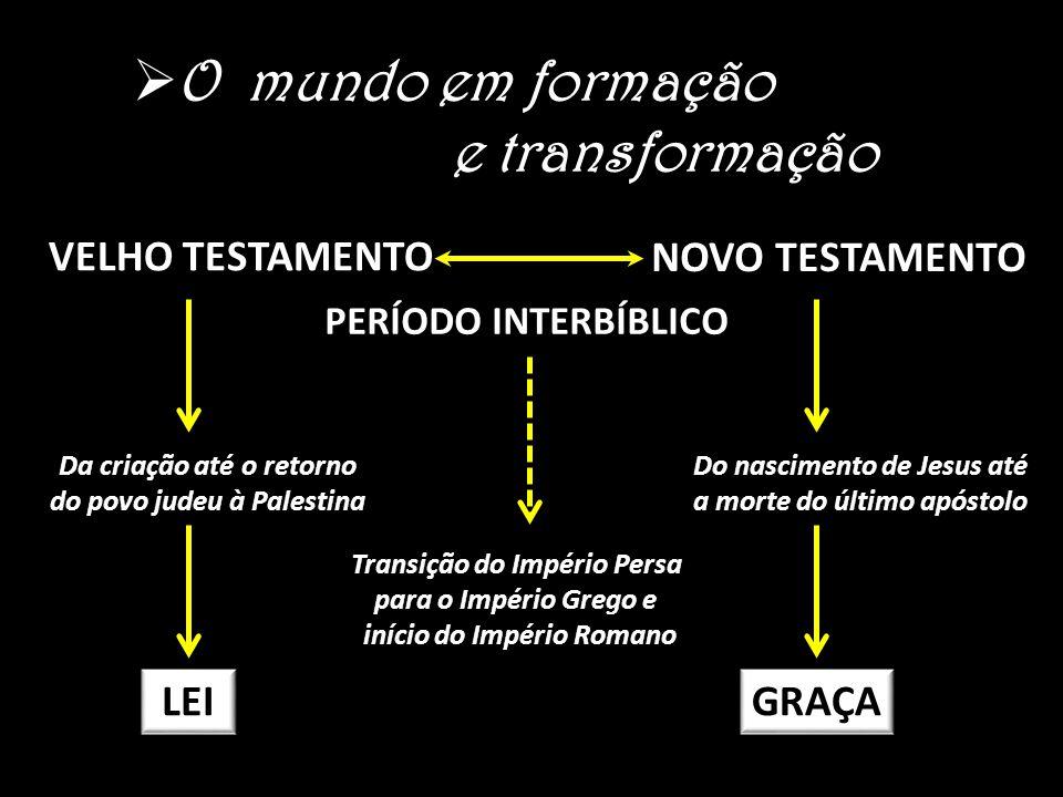 O mundo em formação e transformação VELHO TESTAMENTO NOVO TESTAMENTO