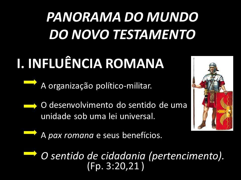 PANORAMA DO MUNDO DO NOVO TESTAMENTO